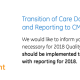 Transition of Care Documentation and Reporting to CMS for 2018