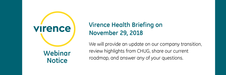 Virence Health Briefing on November 29, 2018